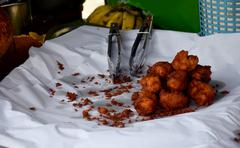Champedak or Artocarpus integer deep fried Stock Photos