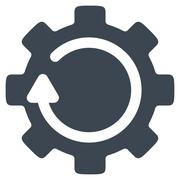 Stock Illustration of Gear Rotation Icon