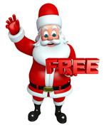Santa claus with free sign Stock Illustration