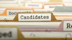 Candidates on Business Folder in Catalog Stock Illustration