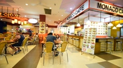 Food court in Maximark Stock Footage