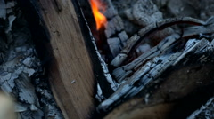 Hot fireplace full of wood Stock Footage
