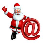 Stock Illustration of Cartoon Santa claus with at the rate sign