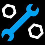 Wrench And Nuts Icon Stock Illustration