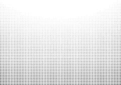 Graphical gradient halftone style in black over white Piirros