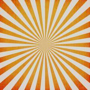 vintage sunburst and texture with space - stock photo