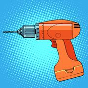 work tool drill screwdriver - stock illustration