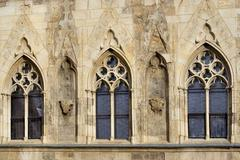 Gothic windows Stock Photos