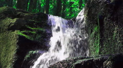 A fragment of a mountain waterfall close-up, Ukraine Stock Footage