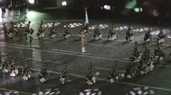 presentation at the 9th International Military Music Festival Spasskaya Tower - stock footage