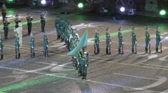 Presentation at the 9th International Military Music Festival Spasskaya Tower Stock Footage