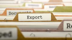 Export - Folder Name in Directory Stock Illustration