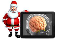 Santa claus with anatomical xray Stock Illustration