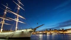 The ship Af Chapman in Stockholm, Sweden - stock footage