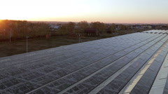 Panorama roof a huge greenhouse. Reflection of the sun's rays at the corners of Stock Footage