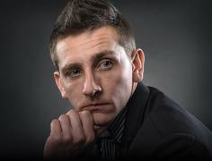 Portrait of contemporary man - stock photo