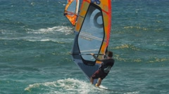 maui windsurfers - stock footage