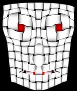 frightening mask - stock illustration