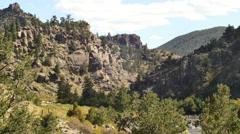 4k colorado river rocks western mountains Stock Footage