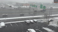 Stock Video Footage of A storm hits near an interstate highway.