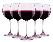 Set from glasses with wine isolated on a white - stock photo
