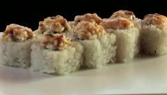 Sushi rolls Stock Footage
