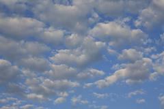 Unique drawings and structures of clouds - stock photo