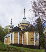 Wooden Church of St. apostle Peter was built in 1721 Stock Photos