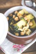 Chickpea stew - stock photo