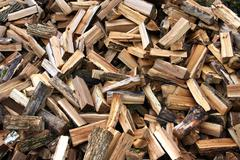 Fire wood in a considerable quantity - stock photo