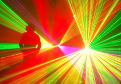 Original lighting effect it created by the laser. - stock photo