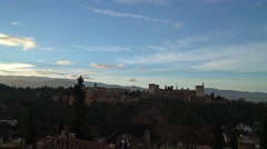 Stock Video Footage of Time lapse of the Alhambra palace, early morning after sunrise.