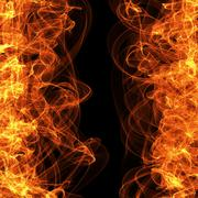 Fire frame on dark, template for website computer graphic and internet. Blank Stock Illustration