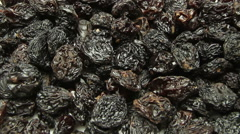 Stock Video Footage of Raisins background. Dolly shot.