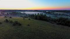 Russia, Novgorod region, august 2015 (Aerial Drone flights) Stock Footage