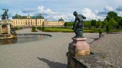 Drottningholm Palace, Stockholm, Sweden - stock footage