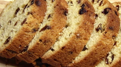 Sliced cake. Dolly shot. Stock Footage