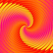 Cycling whirlpool illustration in vivid colors - stock illustration