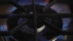 Gas cooker ignition Stock Footage