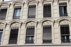 Renaissance Building Facade in Lyon - stock photo