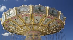 Carousel at Gröna Lund amusement park in central Stockholm Stock Footage