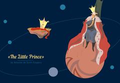 King. The little prince. Stock Illustration