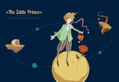 The little prince - stock illustration