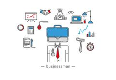 Business icons - stock illustration