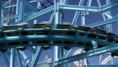 Jetline roller coaster - Gröna Lund amusement park in central Stockholm Stock Footage