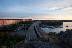 Highway E4, Stockholm, Sweden - stock footage