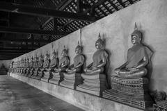 AYUTTHAYA, THAILAND - SEPTEMBER 20: The main hall of Wat Putthaisawan with go - stock photo