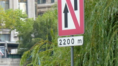 An arrow up sign in the streets of Paris - stock footage