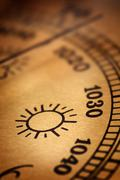 Old barometer Stock Photos