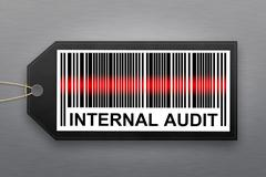 Internal audit barcode Stock Illustration